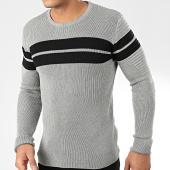 /achat-pulls/john-h-pull-h-018-gris-chine-noir-204219.html