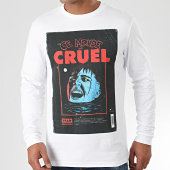 /achat-t-shirts-manches-longues/vald-tee-shirt-manches-longues-affiche-monde-cruel-blanc-204191.html