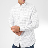 /achat-chemises-manches-longues/selected-chemise-manches-longues-slim-new-mark-blanc-204158.html