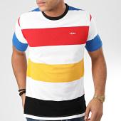 /achat-t-shirts/tealer-tee-shirt-a-rayures-rainbow-blanc-rouge-jaune-noir-204169.html