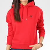 /achat-sweats-capuche/calvin-klein-sweat-capuche-femme-ck-embroidery-3178-rouge-204358.html