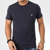 /achat-t-shirts/guess-tee-shirt-slim-m01i24-j1300-bleu-marine-204268.html