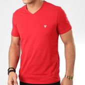 /achat-t-shirts/guess-tee-shirt-slim-col-v-m01i32-j1300-rouge-204277.html
