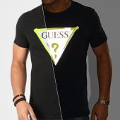 /achat-t-shirts/guess-tee-shirt-slim-m01i55-j1300-noir-reflechissant-204284.html