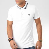 /achat-polos-manches-courtes/guess-polo-manches-courtes-m01p45-j1300-blanc-204286.html