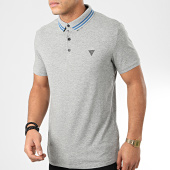 /achat-polos-manches-courtes/guess-polo-manches-courtes-m01p45-j1300-gris-chine-204297.html