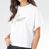 /achat-t-shirts/guess-tee-shirt-femme-crop-strass-w01i78-i3z00-blanc-argente-204311.html
