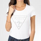 /achat-t-shirts/guess-tee-shirt-femme-strass-w01i90-j1300-blanc-argente-204314.html