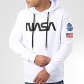 /achat-sweats-capuche/nasa-sweat-capuche-worm-patches-blanc-204346.html