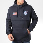 /achat-sweats-capuche/nasa-sweat-outdoor-col-zippe-patches-bleu-marine-204350.html