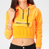 /achat-sweats-zippes-capuche/project-x-sweat-capuche-crop-femme-f192045-orange-204331.html