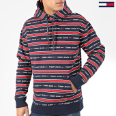 /achat-sweats-capuche/tommy-jeans-sweat-capuche-branded-stripe-7399-bleu-marine-rouge-204360.html