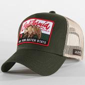 /achat-trucker/von-dutch-casquette-trucker-california-beige-vert-kaki-204365.html