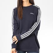 /achat-sweats-col-rond-crewneck/adidas-sweat-crewneck-femme-a-bandes-fn5783-bleu-marine-blanc-204392.html