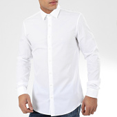 /achat-chemises-manches-longues/calvin-klein-chemise-manches-longues-2ply-poplin-3025-blanc-204393.html