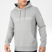 /achat-sweats-capuche/calvin-klein-sweat-capuche-cotton-logo-4060-gris-chine-204397.html