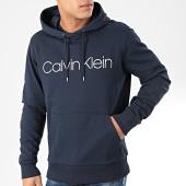/achat-sweats-capuche/calvin-klein-sweat-capuche-cotton-logo-4060-bleu-marine-204398.html