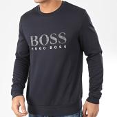 /achat-sweats-col-rond-crewneck/hugo-boss-sweat-crewneck-50420367-bleu-marine-argente-204425.html