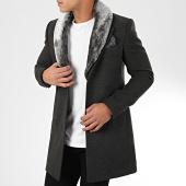 /achat-manteaux/mackten-manteau-col-fourrure-1033-gris-anthracite-chine-204450.html