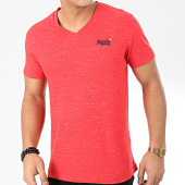 /achat-t-shirts/superdry-tee-shirt-ol-vee-m1000086a-rouge-chine-204382.html