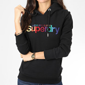 /achat-sweats-capuche/superdry-sweat-capuche-femme-classic-rainbow-embroidery-entry-w2000075a-noir-204384.html