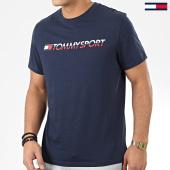 /achat-t-shirts/tommy-sport-tee-shirt-logo-chest-0051-bleu-marine-204480.html