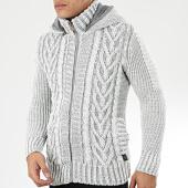 /achat-cardigans-gilets/classic-series-gilet-zippe-capuche-1016-blanc-gris-204565.html