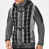 /achat-cardigans-gilets/classic-series-gilet-capuche-1018-noir-blanc-204575.html
