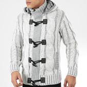 /achat-cardigans-gilets/classic-series-gilet-zippe-capuche-9000-blanc-gris-204580.html