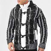 /achat-cardigans-gilets/classic-series-gilet-zippe-capuche-9000-noir-blanc-204581.html