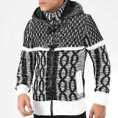 /achat-cardigans-gilets/classic-series-gilet-zippe-capuche-1020-noir-blanc-204594.html