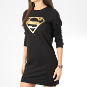 /achat-robes/superman-sweat-crewneck-robe-femme-logo-noir-dore-204546.html