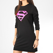 /achat-robes/superman-sweat-crewneck-robe-femme-logo-noir-rose-204548.html