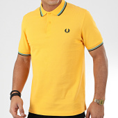 /achat-polos-manches-courtes/fred-perry-polo-manches-courtes-twin-tipped-m3600-jaune-204558.html