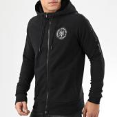 /achat-sweats-zippes-capuche/la-piraterie-sweat-zippe-capuche-hooligan-noir-204502.html