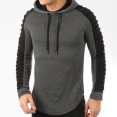/achat-sweats-capuche/lbo-sweat-capuche-oversize-avec-details-noir-966-gris-anthracite-204582.html