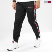 /achat-pantalons-joggings/tommy-sport-pantalon-jogging-a-bandes-tape-fleece-0324-noir-204482.html