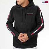 /achat-sweats-capuche/tommy-sport-sweat-capuche-a-bandes-tape-fleece-0325-noir-204484.html