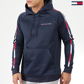 /achat-sweats-capuche/tommy-sport-sweat-capuche-a-bandes-tape-fleece-0325-bleu-marine-204485.html