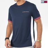 /achat-t-shirts/tommy-sport-tee-shirt-a-bandes-classics-0326-bleu-marine-204487.html