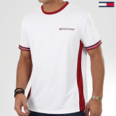 /achat-t-shirts/tommy-sport-tee-shirt-a-bandes-classics-0326-blanc-204488.html