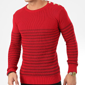 /achat-pulls/classic-series-pull-a-rayures-2033-rouge-dore-204622.html