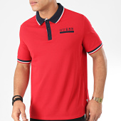/achat-polos-manches-courtes/guess-polo-manches-courtes-m01p44-k8510-rouge-bleu-marine-204664.html