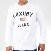 /achat-sweats-col-rond-crewneck/luxury-lovers-sweat-crewneck-luxury-jeans-blanc-204736.html