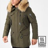 /achat-parkas/comme-des-loups-parka-chauffante-fourrure-copenhagen-vert-kaki-beige-204778.html