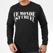 /achat-t-shirts-manches-longues/vald-tee-shirt-manches-longues-ce-monde-est-cruel-noir-204796.html