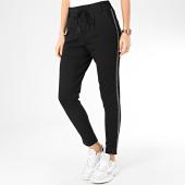 /achat-pantalons-carreaux/only-pantalon-femme-a-bandes-poptrash-noir-argente-204805.html