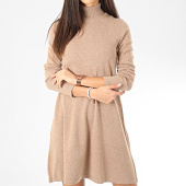 /achat-robes/vero-moda-robe-pull-col-roule-femme-appy-marron-clair-chine-204815.html