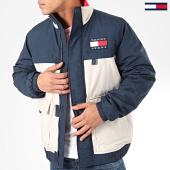 /achat-vestes/tommy-jeans-veste-zippee-colorblock-7368-beige-bleu-marine-204858.html