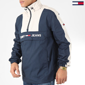 /achat-vestes/tommy-jeans-veste-outdoor-a-bandes-colorblock-popover-7369-bleu-marine-ecru-204859.html